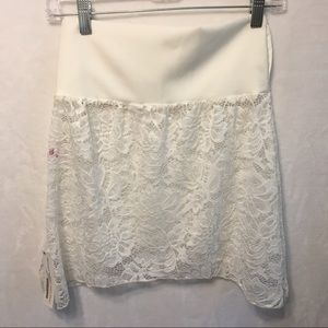 5/$20 Booty Shawl White Lace Swim Coverup